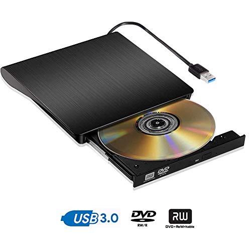 Lettore Masterizzatore CD DVD Esterno Portatile Ultra Sottile USB 3.0 Lettore CD DVD RW Eeterno Disco per laptop/desktop Macbook Win 7/8/10 e Linux
