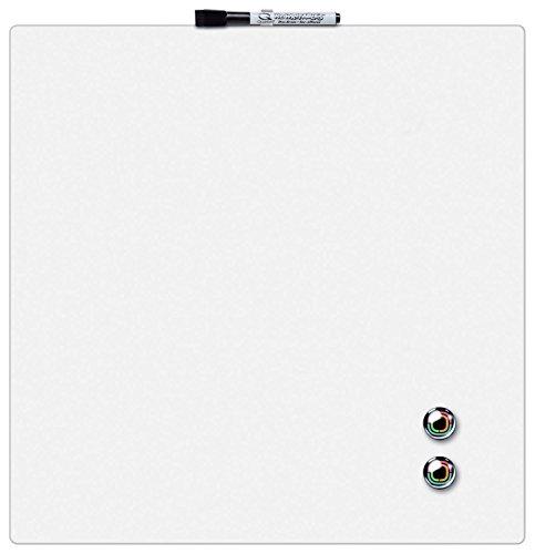 Rexel Pizarra magnética individual, 360x360mm, Diseño cuadrado, Blanco, 1903802