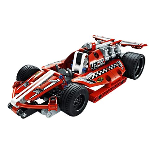 Kids Racing Car Construction Building Blocks and Bricks Intelligence Learning and Activity Toys for Children Girls Boys Age Over 6 Years Old, Model 3412 Red, 158pcs