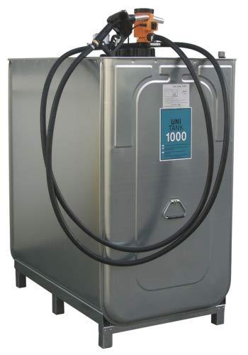 Dieseltank UNI 1000 l, 230V Einsteigerpaket BxTxH 1280x770x1420 mm -
