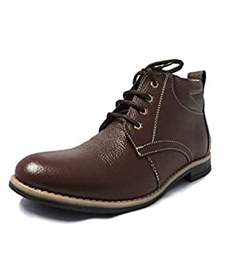 Lepot Men's Brown Leather Casual Shoes 10 UK