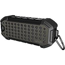 Altavoz Bluetooth Portátil VAVA Estéreo Premium para Aire Libre (24 horas de Uso, Mosquetón de Metal, Impermeable IPX6, Bluetooth Dual Puerto AUX 4.1 & 3.5 mm) Estilo Punk para iPhone y Android