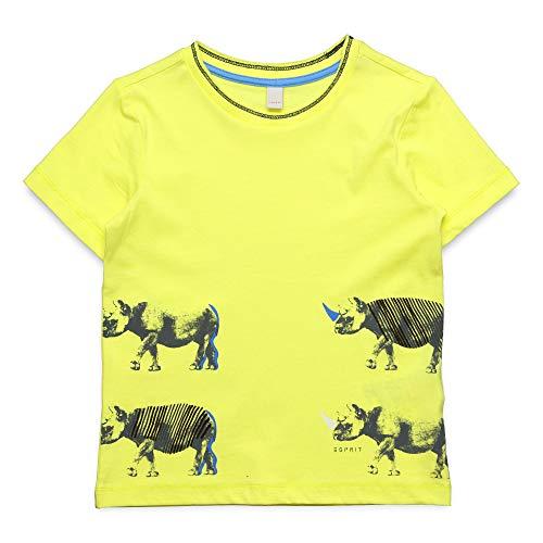 ESPRIT KIDS Jungen T-Shirt SS T-Shirt, per Pack Gelb (Lemon Drop 710), 128 (Herstellergröße: 128+) -