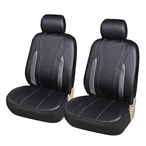 ZKORN Hochwertige Auto Vordersitzbezüge 2Pcs PU Protector Interior Zubehör für PKW SUVs und LKWs