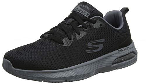 Skechers Dyna-Air, Zapatillas para Hombre, Negro (Black Mesh/Charcoal Trim Bkcc), 43 EU