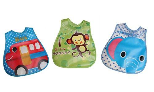baby-boy-ragazza-facile-da-pulire-in-plastica-impermeabile-bavaglino-raccoglibriciole-confezione-da-