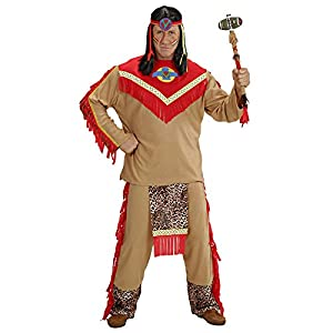 WIDMANN Widman - Disfraz de indio del salvaje oeste para hombre, talla S (37341)