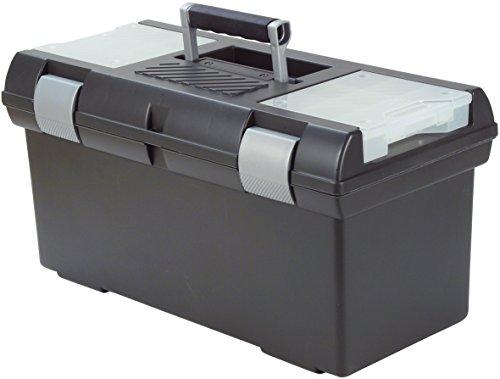 CURVER Premium 24'' Werkzeugkasten, Plastik, anthrazit/Silber, 58 x 29 x 30 cm