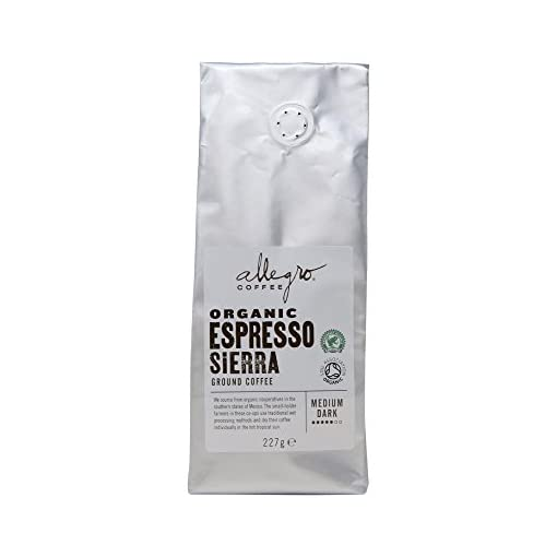 Allegro Coffee Espresso Sierra Ground Coffee, 227g