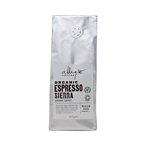 Allegro Coffee Organic Espresso Sierra Ground Coffee, 227 g  Allegro Coffee Organic Espresso Sierra Ground Coffee, 227 g 41vqf9xNYDL