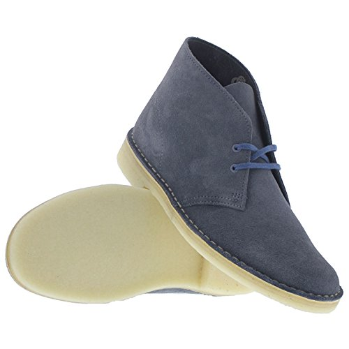 Clarks Originals Desert Boot, Herren Desert Boots Kurzschaft Stiefel & Stiefeletten,Grau (Wolf Suede) Denim