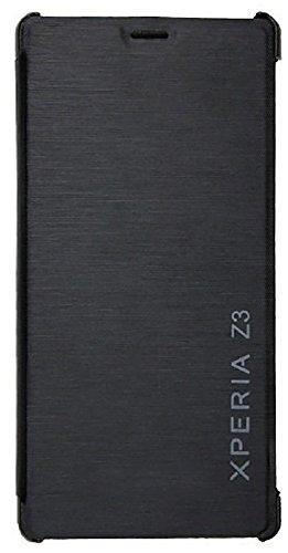 Fecom Flip Cover for Sony Xperia Z3 (Black)