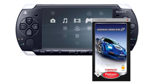 PlayStation Portable - PSP Konsole Slim&Lite Piano Black (Ridge Racer 2 - Platinum Bundle)