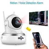 Baby-Monitor Wireless-Kamera 2-Megapixel-Gegensprechanlage Mobile Detection Alarm kompatibel mit Android/Ios