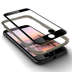 GLAZ geeignet für iPhone 7 Plus Panzerglas in schwarz, Schutzfolie, 9H Härte, Mit Applikator, 100% Staubfrei, Blasenfrei, Premium Panzerfolie, Displayschutz, Full Coverage, inkl 1Touch ID Home Button