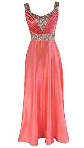PLAER mode perlée longue robe de mariée de mariée Cocktail robe de soirée sexy rouge pastèque