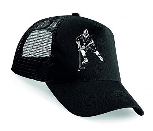 Snapback 'JUNGE- LÄSSIG- HOKEY- EISHOCKEY- MANN- IM FREIEN- SPIELEN- SPORT- WINTER' Unisex Baseballmütze Trucker Mützen Base Caps