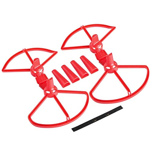 Linxiucen 5 Sätze Abnehmbare Propeller -schutzkorb mit Fahrwerk for DJI Funken (schwarz) (Farbe : Red)