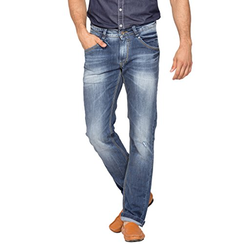 Spykar Mens Blue Skinny Fit Jeans (30)  available at amazon for Rs.989