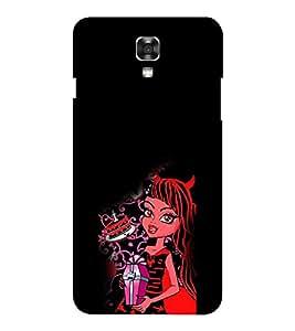 EPICCASE devil girl Mobile Back Case Cover For LG X Power (Designer Case)