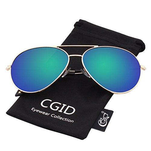 CGID Mode Flieger Metallrahmen Verspiegelt Linse Piloten Pilot Polarisierte Sonnenbrille Pilotenbrille Für Damen UV400 Schutz CG809