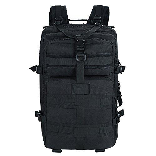 Imagen de topqsc  militar táctica impermeable de moda 45l para excursionismo montañismo y viaje al aire libre  deportiva de alta calidad 5 colores  negro 45