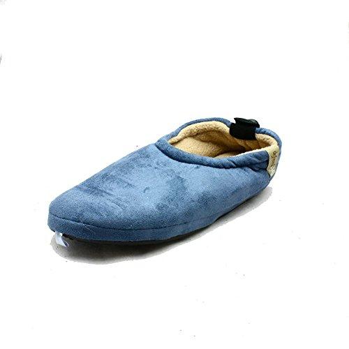 Hommes Polaires souple chaussons bascule de fixation bleu clair