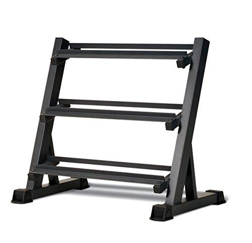 MARCY DBR-86 3-Etagen Hantelablage,hantelständer,hanteln,Gewicht,ablage,kurzhantelständer,Hexhantelablage,hexhantel, Schwarz (Cap Hantel Gewicht Set)