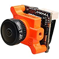 HankerMall Runcam Micro Swift 2 Cámara FPV 600TVL 2.1MM Lente 160 Grados de 5 a 36V PAL para 100mm-160mmm Mini FPV Racing Drone Multicolor Naranja
