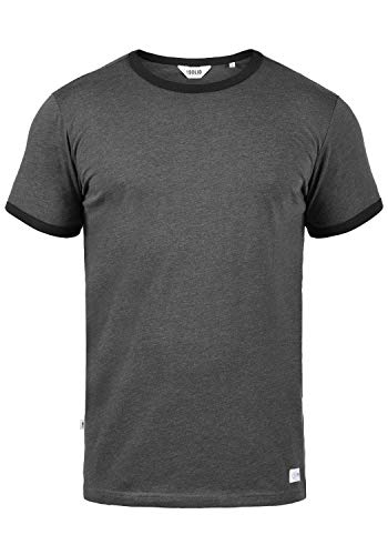 !Solid Manoldo Herren T-Shirt Kurzarm Shirt Mit Rundhalsausschnitt, Größe:XXL, Farbe:Forged Iron Melange (2820M)