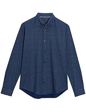 next Hombre Camisa Manga Larga Estampada