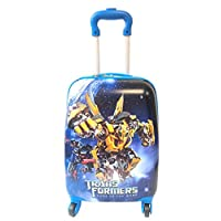 "Children Kids Holiday Travel Character Suitcase Luggage Trolley Bags 18"" Bumblebee Transformer"
