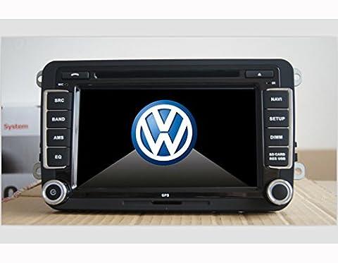 Autoradio pour Volkswagen Golf 5 avec GPS - 7 pouces, GPS, FM/AM/Radio,2 Din, , Bluetooth, Support iPod, Can
