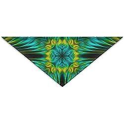 Pañuelo triangular fractal veraniego