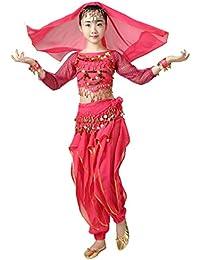 Traje 6pcs del Traje del Traje de la Bailarina de la Danza del Vientre para Las