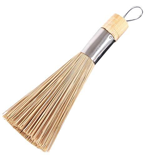 HIUGHJ Reinigungswerkzeug 2 stücke Reinigung und Reinigung traditionellen natürlichen Bambus Wok Pinsel Geschirr küche Werkzeuge hohe qualität heißer, B Typ -