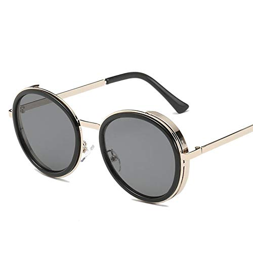 Yuhangh occhiali da sole donna classici occhiali da guida occhiali da sole da donna rotondi occhiali da vista femminili steampunk