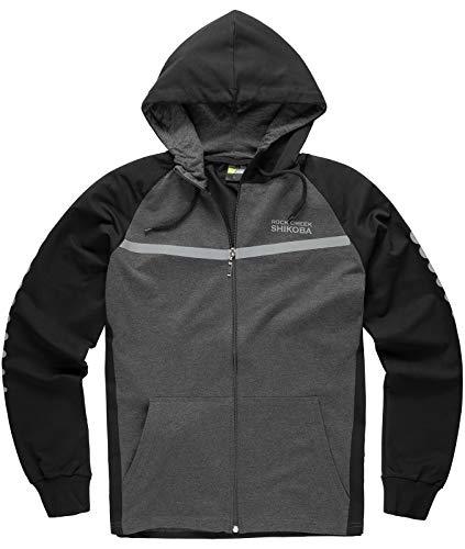 Rock Creek Herren Sportanzug Trainingsanzug Fitness Anzug Hoodie Hose [H-142 Schwarz XXL]