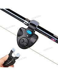 Origlam instrumento electrónico de alerta de caña de pescar luz LED Campana Clip En Caña de pescar, buscador de peces alarma de picada con sound-light