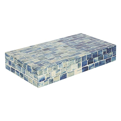 Handicrafts Home Indigo Mosaic Keepsake Decorative Jewelry Storage Organizer Box - Size - Large