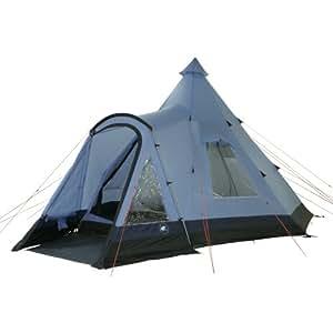 10T Apache 500+ - 10-Personen Tipi Pyramiden-Zelt mit Tunnel-Eingang teilbare Schlafkabine Voll-Bodenplane WS=5000mm