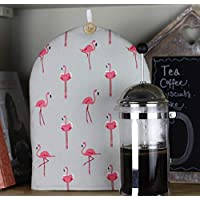 Cafetiere Coffee French Press Cosy. Kitchen gift for Coffee lover. Handmade in Sophie Allport Flamingo Fabric. Christmas gift