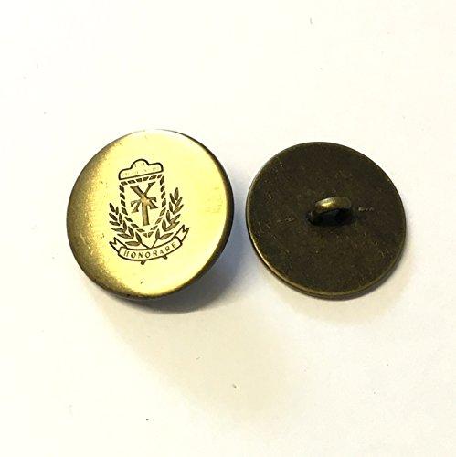 20mm Bronze Metall Deko Blazer Knöpfe mit Wappen Detail-10Stück - Wappen-knöpfe