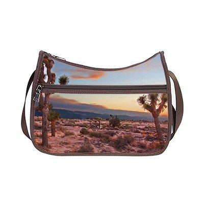 SUNSHINE Custom Oxford Fabric Lightweight Shoulder Hobo Handbag Desert Design (Twin Sides)