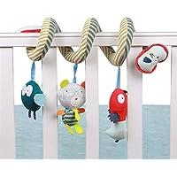Cochecito de actividades en espiral para bebé, asiento de coche, juguetes colgantes, bonito búho, cama, cama, campana de alta calidad, juguetes para bebés