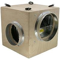 Schallisoliert Softbox 550 m³ MDF von Nicrota 2 x 160mm) Schallisoliert (Ein/Ausgang gegenüberliegend)