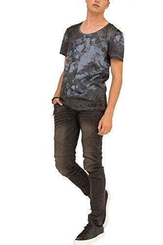 trueprodigy Casual Herren Marken T-Shirt mit Aufdruck, Oberteil cool und stylisch mit Rundhals (kurzarm & Slim Fit), Shirt für Männer bedruckt Farbe: Blau 1073179-4010 Dark Navy