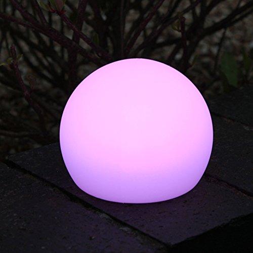 Sphère Lumineuse Boule LED 10cm - Lumière d'Ambiance Ronde RGB, Lampe de Nuit Veilleuse Enfant Rechargeable de PK Green