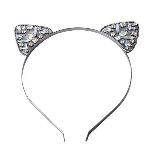 Kostüm Schöne Braut Kind - SHIJIANDE Katze Ohr Stirnband Elegante Strass Haarband Kostüm Headwear Schöne Party Täglich Haarschmuck Zubehör für Braut Kinder und Erwachsene