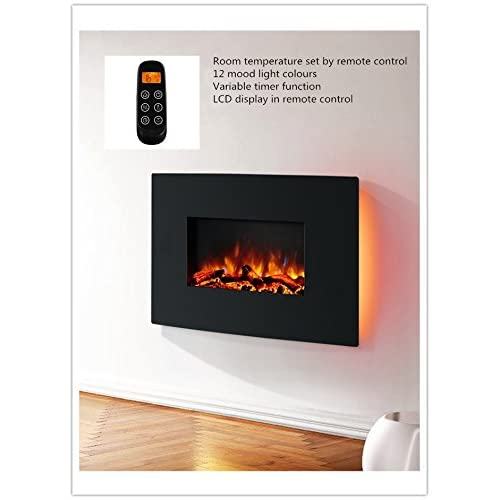 41vqopMLE1L. SS500  - Endeavour Fires Egton Wall Mounted Electric Fire, Black Curved Glass, 1&2kW, 7 day Programmable remote control (W 910mm…